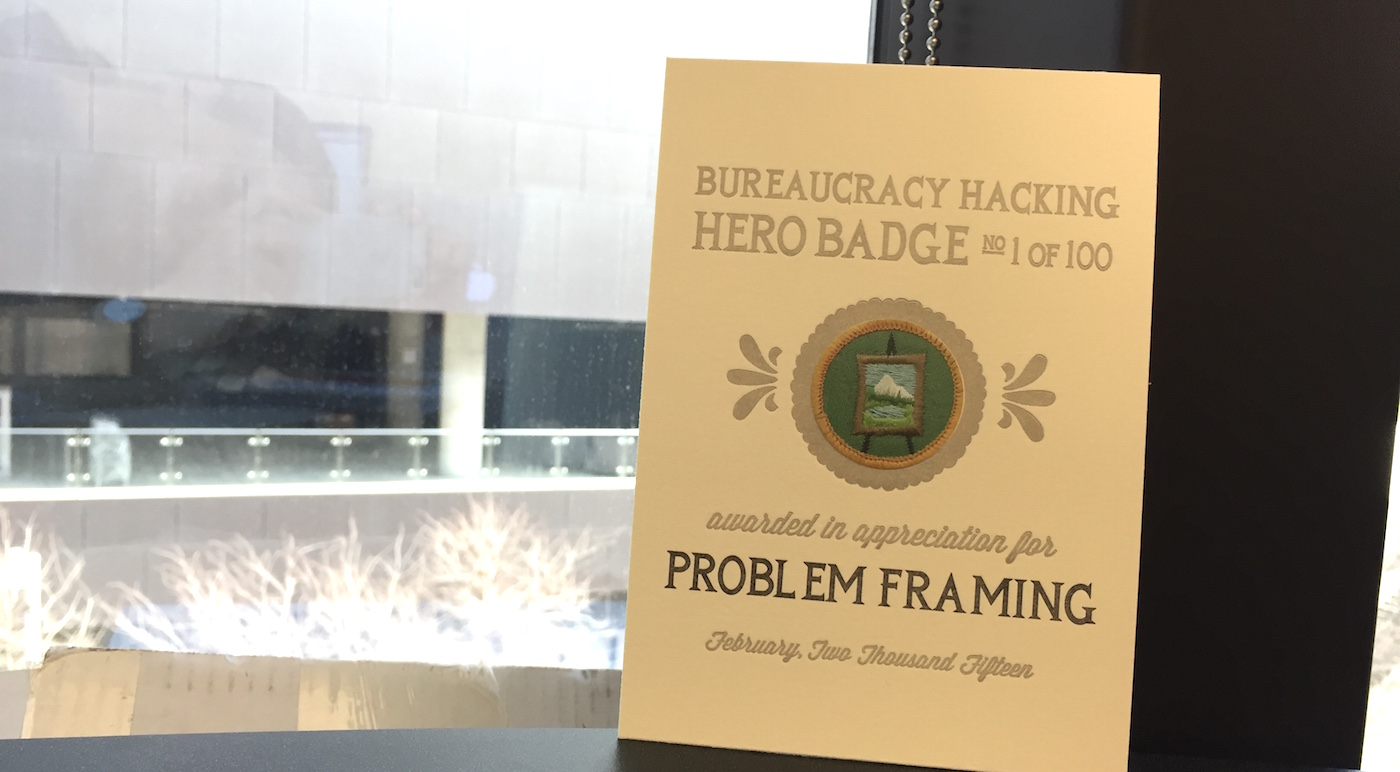 Image of award badge for problem framing